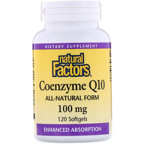 Natural Factors, Coenzyme Q10, 100 mg, 120 Softgels فوائد