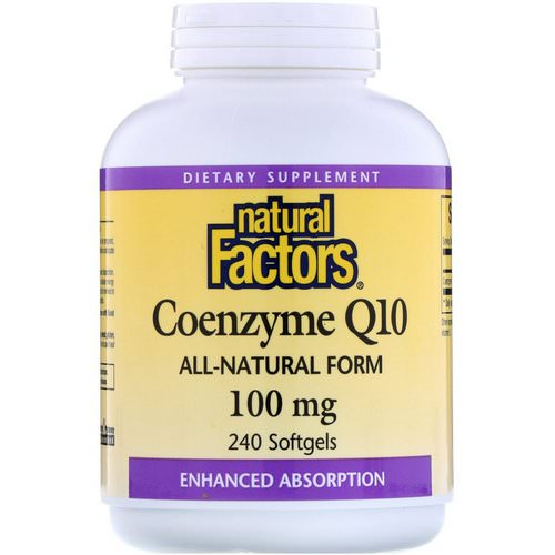 Natural Factors, Coenzyme Q10, 100 mg, 240 Softgels فوائد