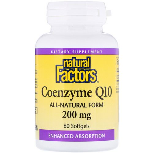 Natural Factors, Coenzyme Q10, 200 mg, 60 Softgels فوائد