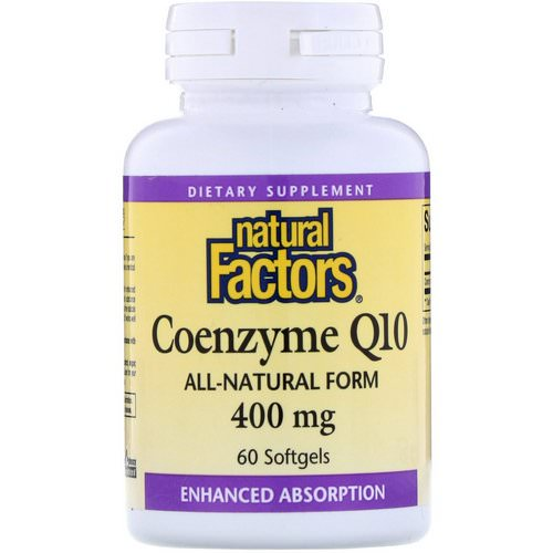 Natural Factors, Coenzyme Q10, 400 mg, 60 Softgels فوائد