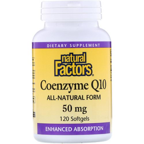 Natural Factors, Coenzyme Q10, 50 mg, 120 Softgels فوائد