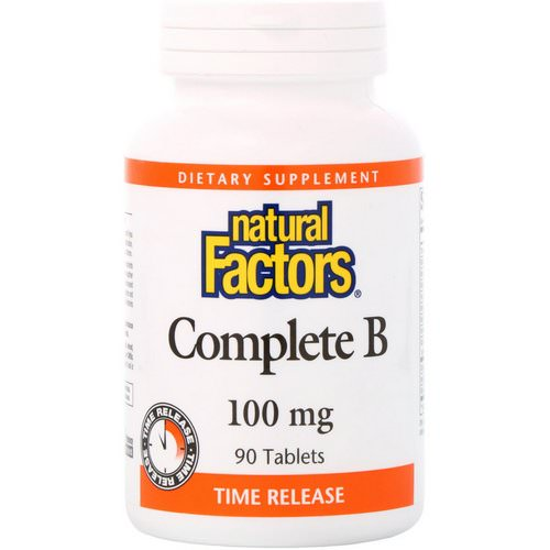 Natural Factors, Complete B, 100 mg, 90 Tablets فوائد