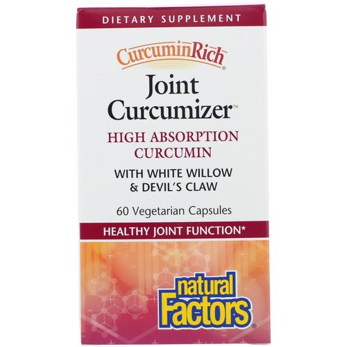 Natural Factors, CurcuminRich, Joint Curcumizer, 60 Vegetarian Capsules فوائد