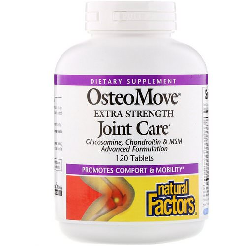 Natural Factors, OsteoMove, Extra Strength Joint Care, 120 Tablets فوائد
