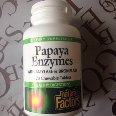 Natural Factors Papaya Digestive Enzyme Formulas