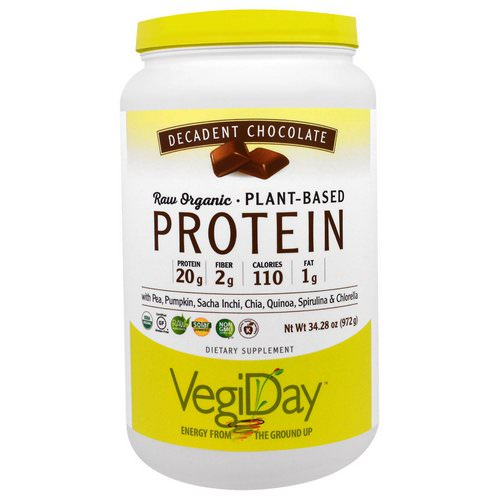 Natural Factors, Raw Organic Plant-Based Protein, Decadent Chocolate, 2.14 lbs (972 g) فوائد