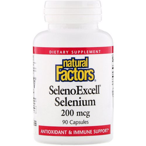 Natural Factors, SelenoExcell, Selenium, 200 mcg, 90 Capsules فوائد