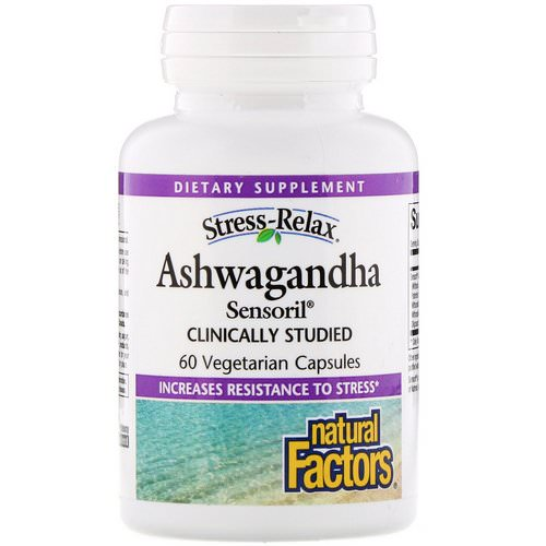 Natural Factors, Stress-Relax, Ashwagandha, Sensoril, 60 Vegetarian Capsules فوائد