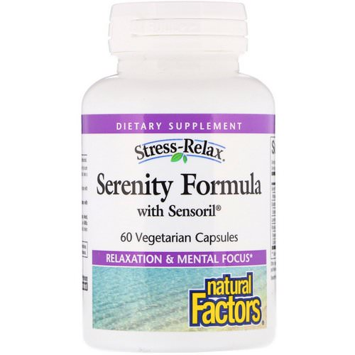 Natural Factors, Stress-Relax, Serenity Formula with Sensoril, 60 Vegetarian Capsules فوائد