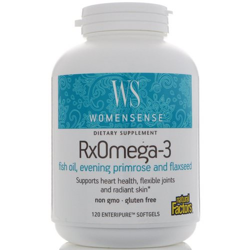Natural Factors, WomenSense, RxOmega-3, 120 Enteripure Softgels فوائد