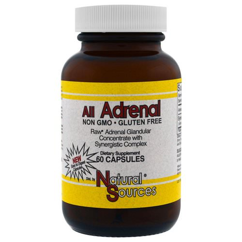 Natural Sources, All Adrenal, 60 Capsules فوائد