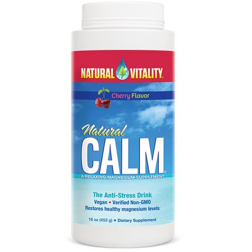 Natural Vitality, Natural Calm, The Anti-Stress Drink, Cherry Flavor, 16 oz (453 g) فوائد