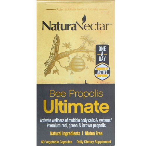 NaturaNectar, Bee Propolis Ultimate, 60 Vegetable Capsules فوائد