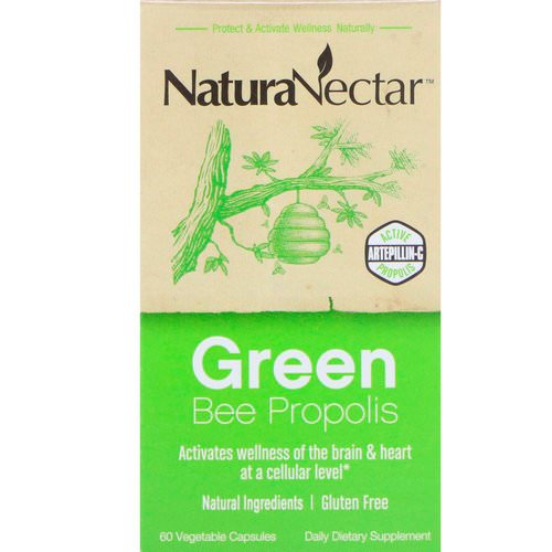 NaturaNectar, Green Bee Propolis, 60 Vegetable Capsules فوائد