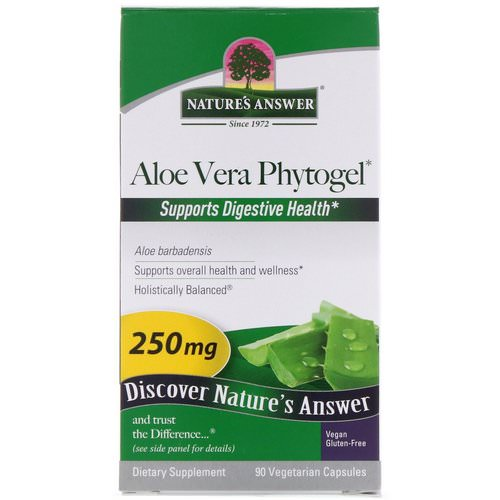 Nature's Answer, Aloe Vera Phytogel, 250 mg, 90 Vegetarian Capsules فوائد