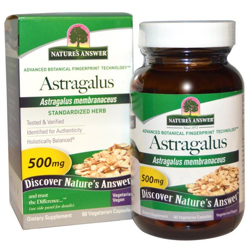 Nature's Answer, Astragalus, 500 mg, 60 Vegetarian Capsules فوائد