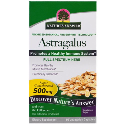 Nature's Answer, Astragalus, 500 mg, 90 Vegetarian Capsules فوائد