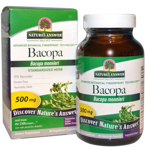 Nature's Answer, Bacopa, 500 mg, 90 Vegetarian Capsules فوائد