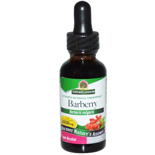 Nature's Answer, Barberry, Low-Alcohol, 1 fl oz (30 ml) فوائد