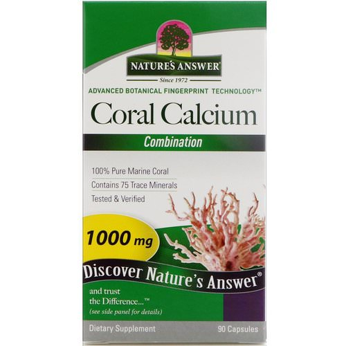 Nature's Answer, Coral Calcium, Combination, 1000 mg, 90 Capsules فوائد