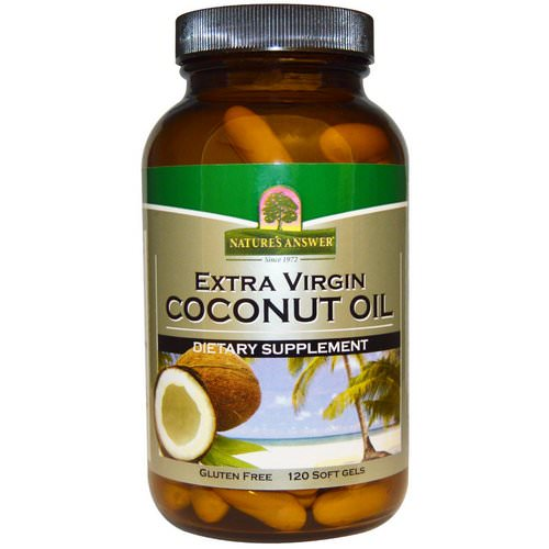 Nature's Answer, Extra Virgin Coconut Oil, 120 Softgels فوائد