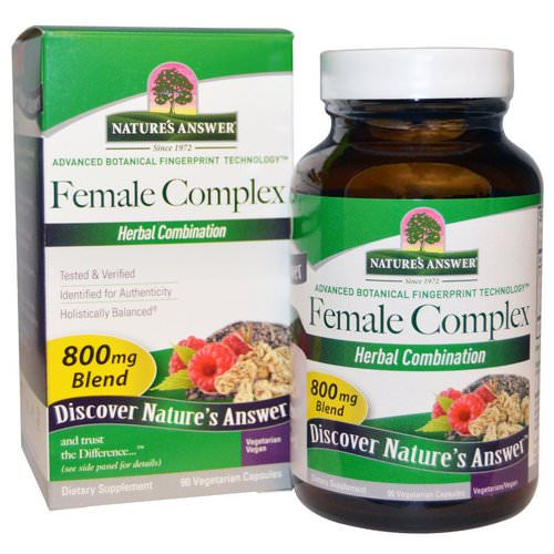 Nature's Answer, Female Complex, Herbal Combination, 800 mg, 90 Vegetarian Capsules فوائد