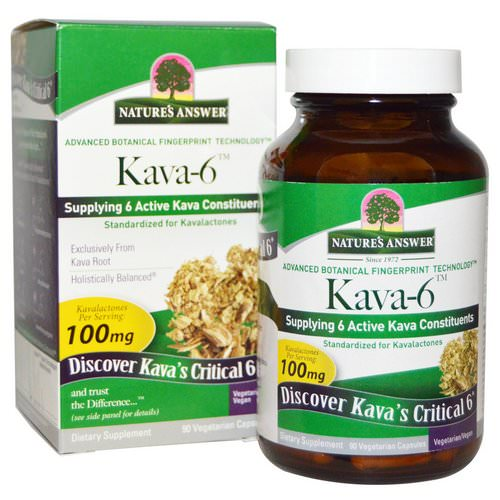 Nature's Answer, Kava-6, 90 Vegetarian Capsules فوائد
