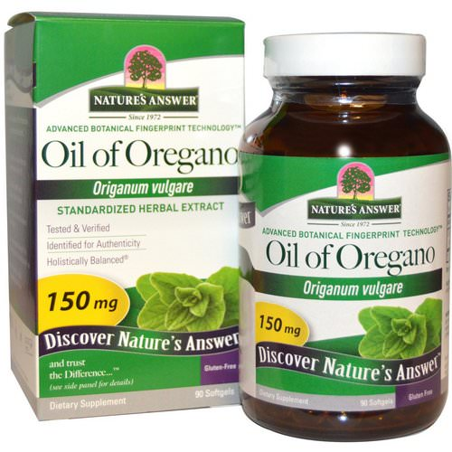 Nature's Answer, Oil of Oregano, Origanum Vulgare, 150 mg, 90 Softgels فوائد