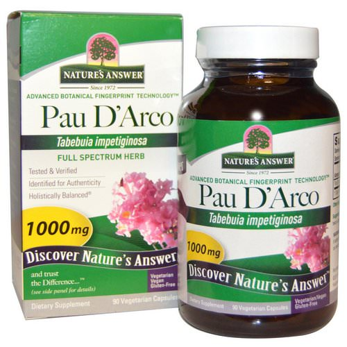 Nature's Answer, Pau D'Arco, 1000 mg, 90 Vegetarian Capsules فوائد