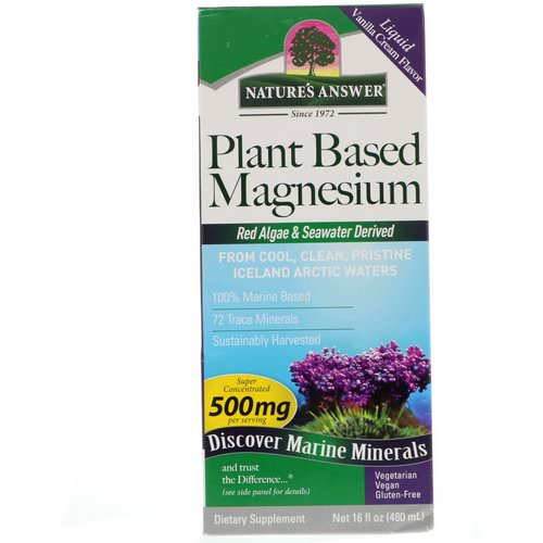 Nature's Answer, Plant Based Magnesium, Vanilla Cream Flavor, 500 mg, 16 fl oz (480 ml) فوائد