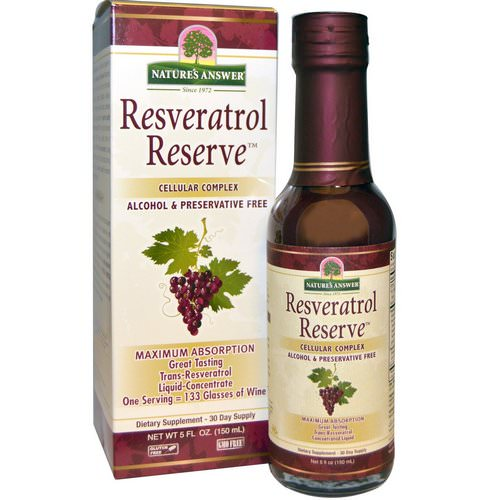 Nature's Answer, Resveratrol Reserve, Cellular Complex, 5 fl oz (150 ml) فوائد