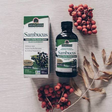 Nature's Answer Elderberry Sambucus Cold Cough Flu