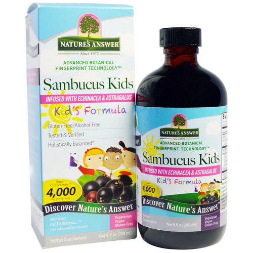 Nature's Answer, Sambucus Kid's Formula, 4,000 mg, 8 fl oz (240 ml)) فوائد