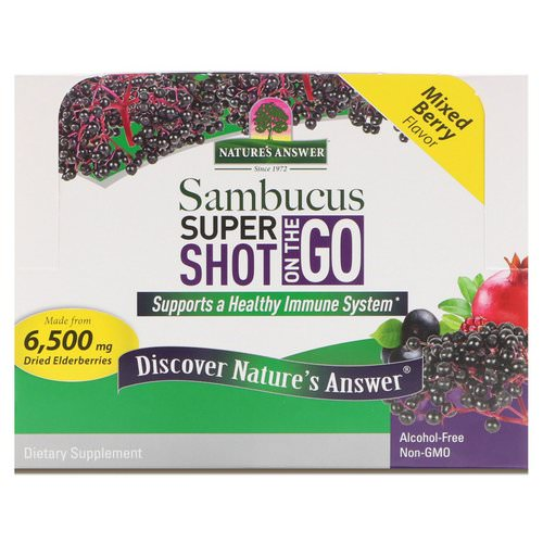 Nature's Answer, Sambucus Super Shot On The Go, Mixed Berry, 12 Pack, 2 fl oz (60 ml) Each فوائد