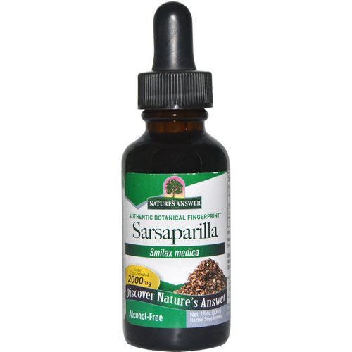 Nature's Answer, Sarsaparilla, Alcohol-Free, 2000 mg, 1 fl oz (30 ml) فوائد