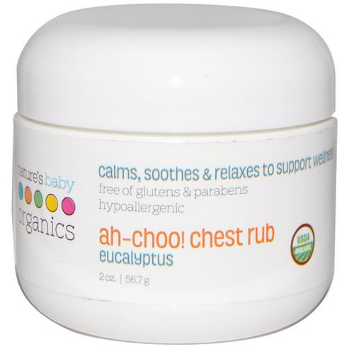 Nature's Baby Organics, Ah-Choo! Chest Rub, Eucalyptus, 2 oz (56.7 g) فوائد