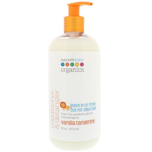 Nature's Baby Organics, Conditioner & Detangler, Vanilla Tangerine, 16 fl oz (473.2 ml) فوائد