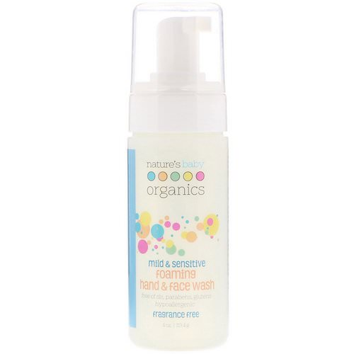Nature's Baby Organics, Mild & Sensitive, Foaming Hand & Face Wash, Fragrance Free, 4 oz (113.4 g) فوائد