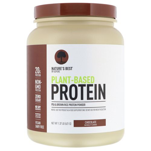 Nature's Best, IsoPure, Plant-Based Protein, Chocolate, 1.37 lb (621 g) فوائد
