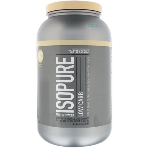 Nature's Best, IsoPure, Low Carb, Protein Powder, Toasted Coconut, 3 lb (1.36 kg) فوائد
