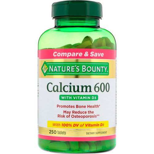 Nature's Bounty, Calcium 600 with Vitamin D3, 250 Tablets فوائد