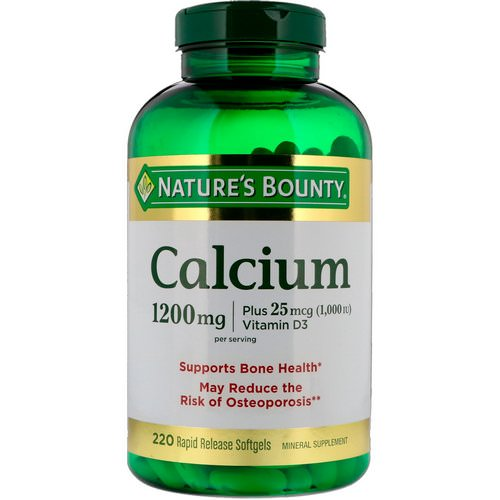 Nature's Bounty, Calcium Plus Vitamin D3, 1200 mg, 220 Rapid Release Softgels فوائد