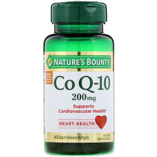 Nature's Bounty, Co Q-10, 200 mg, 45 Rapid Release Softgels فوائد