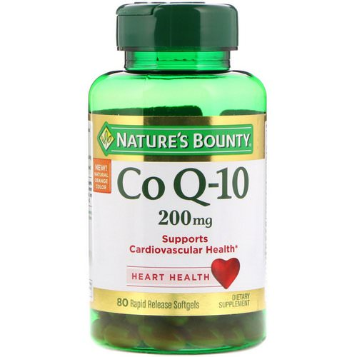 Nature's Bounty, Co Q-10, 200 mg, 80 Rapid Release Softgels فوائد