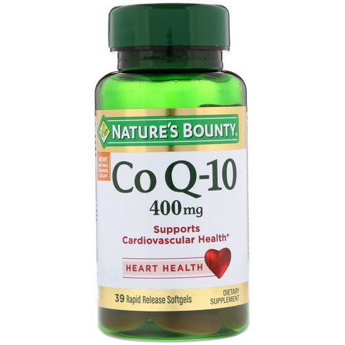 Nature's Bounty, Co Q-10, 400 mg, 39 Rapid Release Softgels فوائد