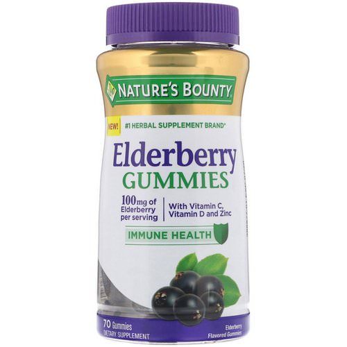 Nature's Bounty, Elderberry Gummies, 100 mg, 70 Gummies فوائد