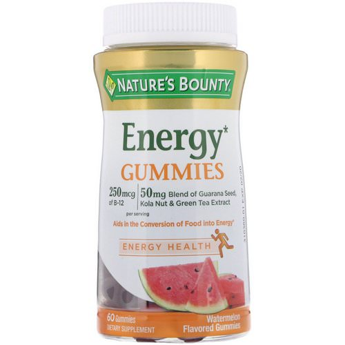 Nature's Bounty, Energy Gummies, Watermelon Flavored, 60 Gummies فوائد