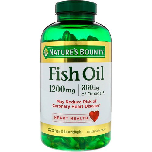 Nature's Bounty, Fish Oil, 1200 mg, 320 Rapid Release Softgels فوائد