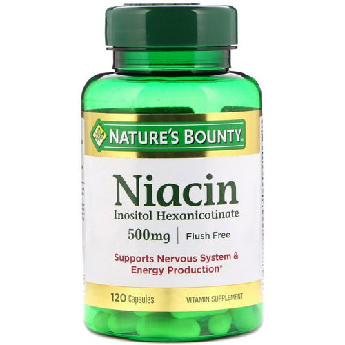 Nature's Bounty, Flush Free Niacin, 500 mg, 120 Capsules فوائد