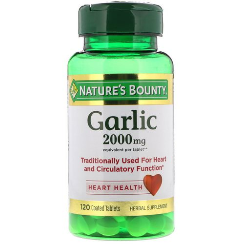 Nature's Bounty, Garlic, 2,000 mg, 120 Coated Tablets فوائد